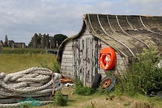 Boathouse on Holy island, England