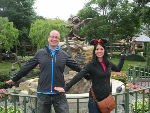 Dan and Mei in Hong Kong Disneyland