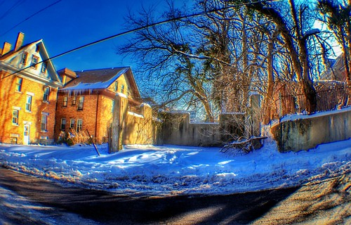 hdr 2010 blue snow app jamiesmed snapseed iphoneedit fisheye trees tree handyphoto geotagged geotag dslr prime lens fixed house home focus facebook water weather wide angle landscape sony hamiltoncounty cincinnati clifton ohio a200 alpha midwest