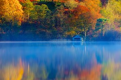 Misty Autumn Morning at Rydal Water