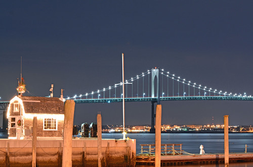 Jamestown and Pell Bridge by John Crosby, via I {heart} Rhody