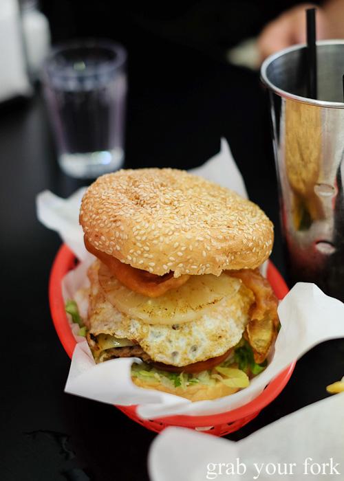 Bernie's Burger at Bernie's Diner, Moss Vale