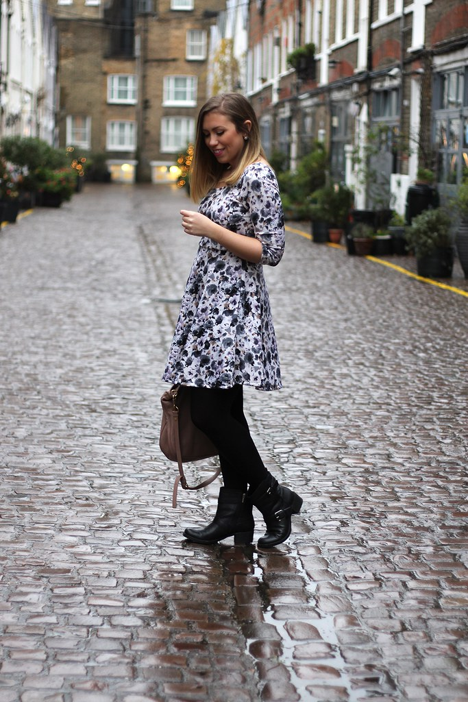 Pastel Floral Dress in London | Outfit | #LivingAfterMidnite