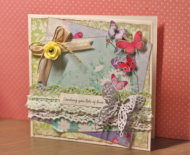 Free butterfly download papers - Shabby chic butterfly download card by StickerKitten