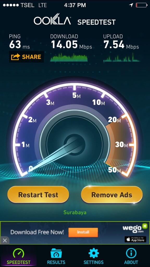 LTE speed telkomsel