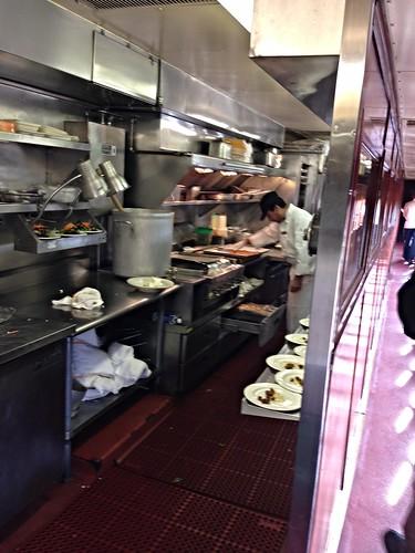 Kitchen Car on the Napa Valley Wine Train