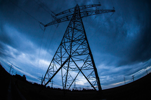 Dramatic Transmission Tower