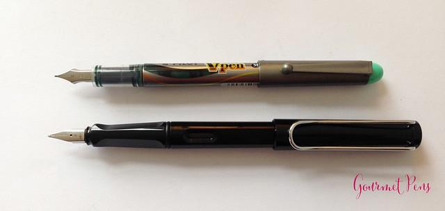 Review Pilot VPen Fountain Pen - Light Green @PilotPenUSA @JetPens (6)