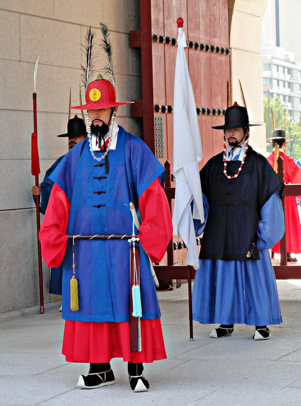 Guards at Gyeongbokgung, Seoul