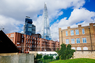 The Shard from Leather Market Gardens