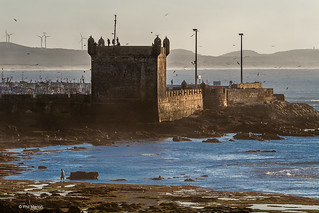 Ramparts of the walled fort of Essaouira, Morocco