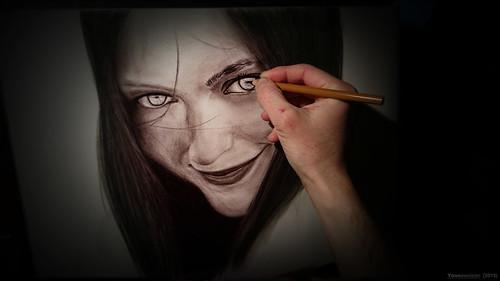 Drawing - Work in progress (Original photo by ElisbethRose) © Yannewvision - 2015