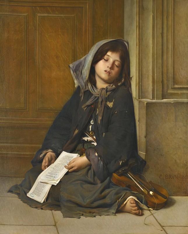 Guillaume-Charles Brun - La mendiante (1868)