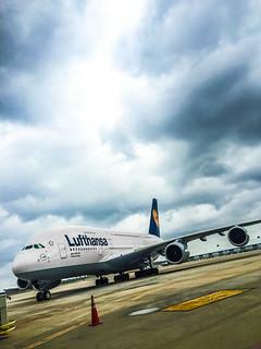 Lufthansa A380 IAH