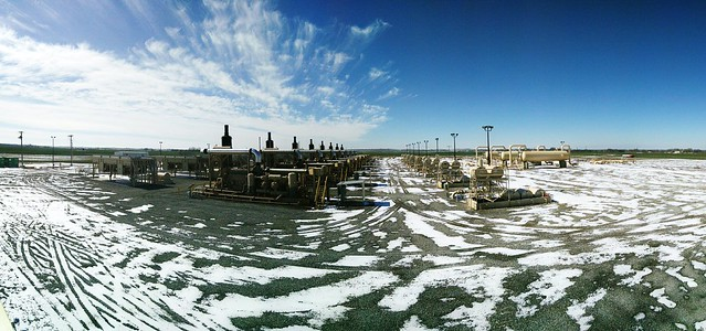 panorma of ice compressor station
