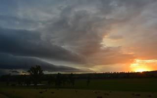 storm and sunset near Kyogle