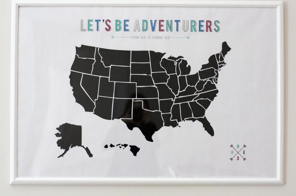 US Map Free Printable