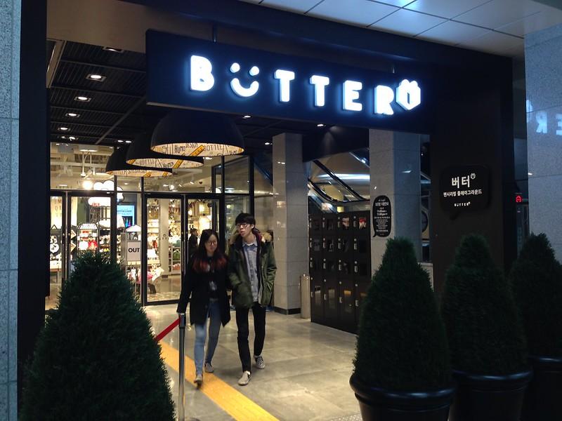 Butter store in Hongdae.