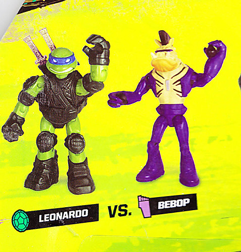 "Nickelodeon  TEENAGE MUTANT NINJA TURTLES :: Goodie vs. Baddie Twin Pack; ""MICHELANGELO vs.  ROCKSTEADY"" / ..card backer iii (( 2015 ))  [[ Courtesy of Hero ]]"