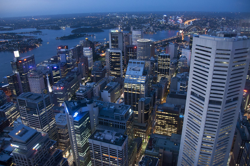 Sydney CBD and the Sydney Harbour Bridge