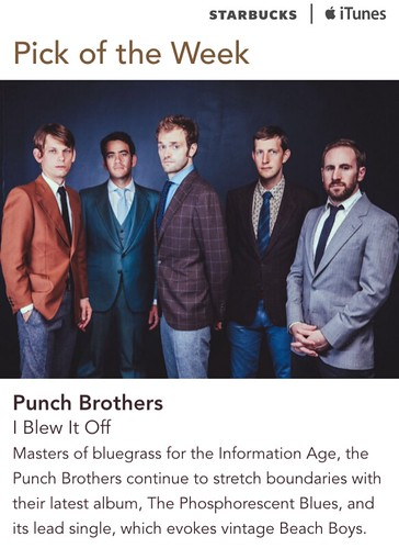 Starbucks iTunes Pick of the Week - Punch Brothers - I Blew It Off