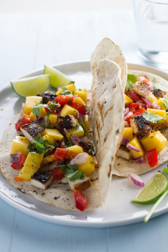 Jamaican Jerk Chicken Tacos with Mango Salsa Recipe ...