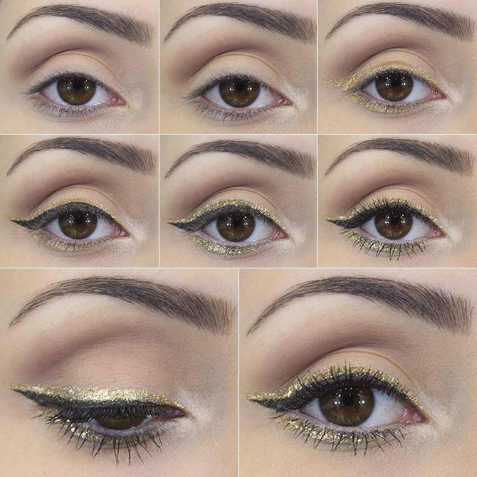 1-maquiagem inspirada na sapatilha dourada belle Petite Jolie blog sempre glamour