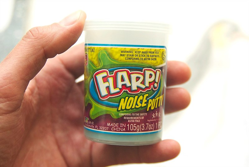 "75/365. 3 guesses as to what ""flarp noise putty"" sounds like."
