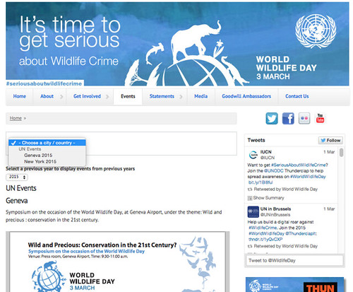 #WorldWildlifeDay Screen Shot 2015-03-02 at 7.20.04 AM