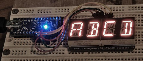 adafruit alpha LED display