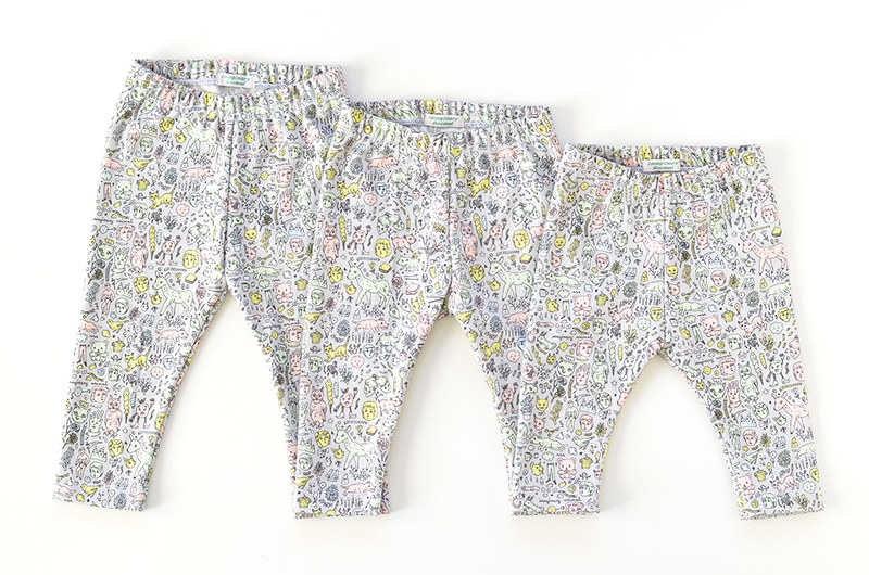 Organic Cotton Doodletown Baby Leggings