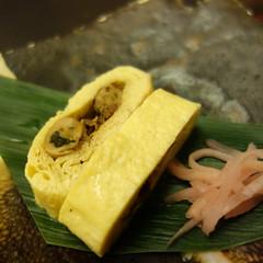 牡蠣佃煮入巻玉子