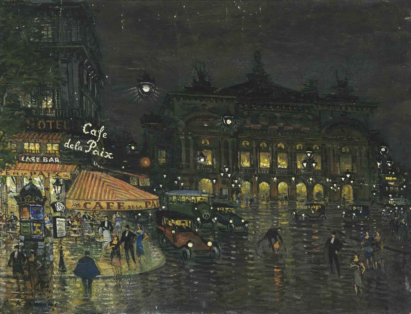 Cafe de la Paix, Paris by Constantin Alexeevich Korovin