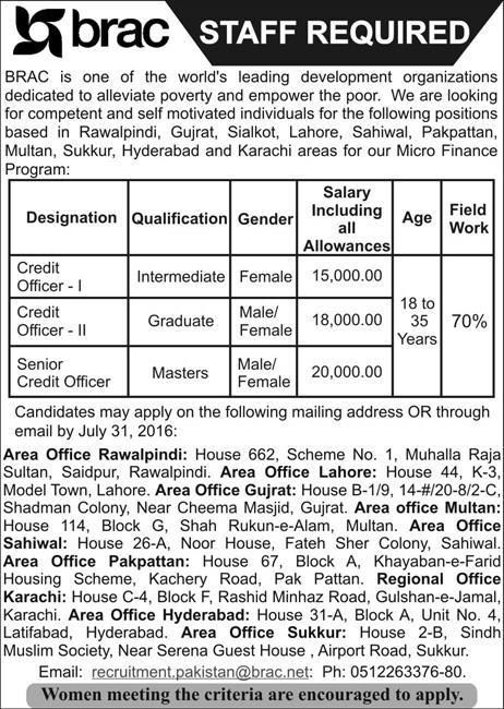 BRAC Career Opportunities