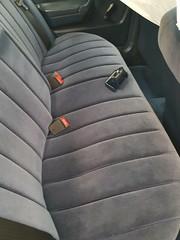 El asiento trasero, luego de la limpieza a fondo, en Tapimaster - julio 2016