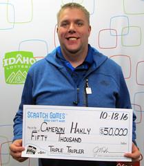 Cameron Hakly - $50,000 Triple Tripler