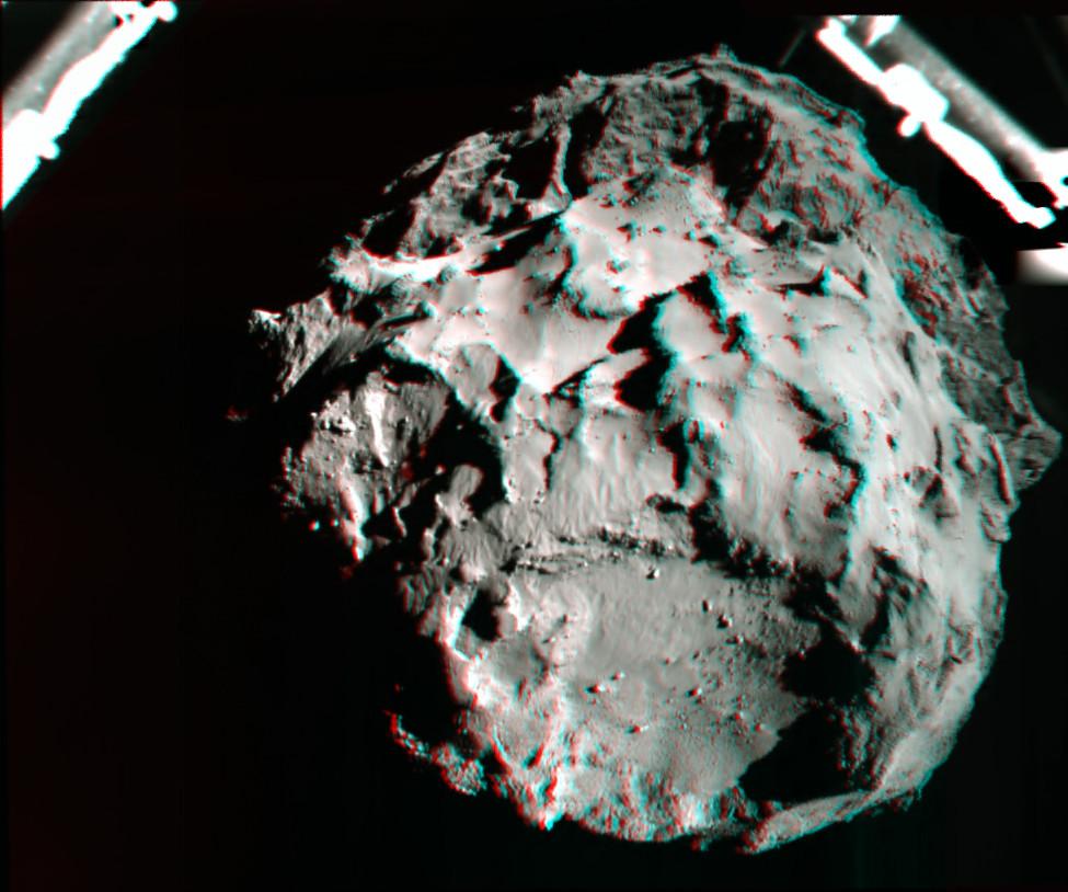 Philae's  Comet 67P C-G Anaglyph