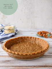 Pecan Oat No-Bake Pie Crust
