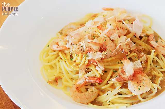 Uni and Shrimp Pasta (P350)