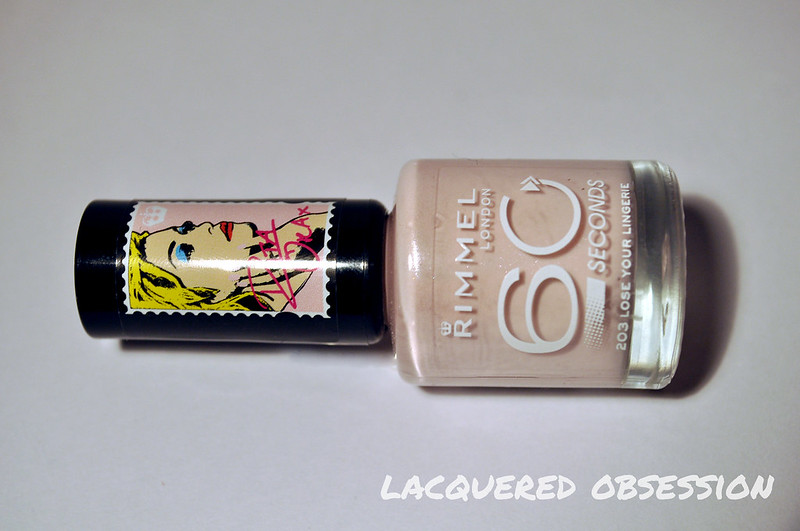 Rimmel Lose Your Lingerie s pyžamovým nail artom / Rimmel Lose Your Lingerie with pyjama nail art