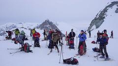 Zdejmujemy foki i szykujemy się do zjazdu na przełęczy Col d Eveque