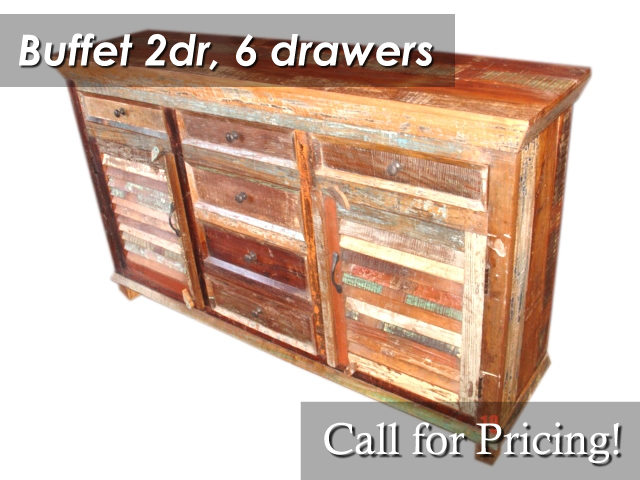 Buffet 2 Doors 6 Drawers