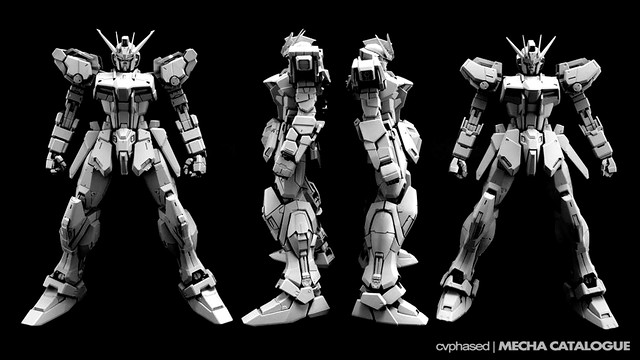 Dragon Momoko - MG Strike Gundam with PG Details