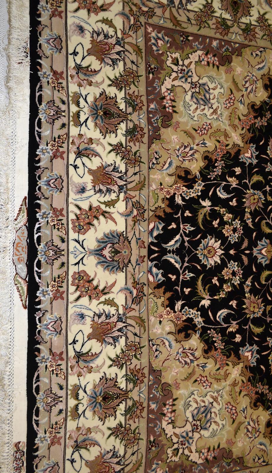 Taghizadeh black Persian Rug 7x10 Tabriz (4)