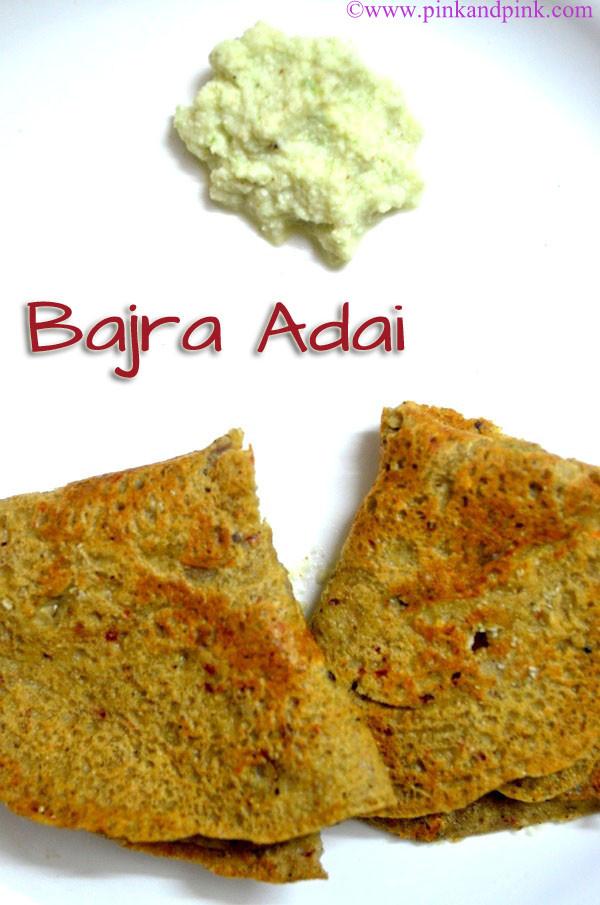 Kambu Adai - Bajra Adai recipe
