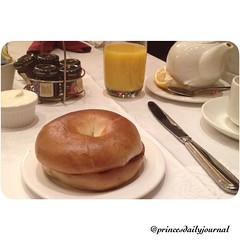 """Trying a new look for my pics. #whatsprinceeating: """"Toasted Bagel"""" www.princesdailyjournal.com #princesdailyjournal #princeinthecity #breakfast #foodie #foodart #myfab5 @bestfoodboston #boston"""