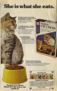 """PURINA CAT CHOW :: """"She is what she eats."""" (( 1973 ))"""