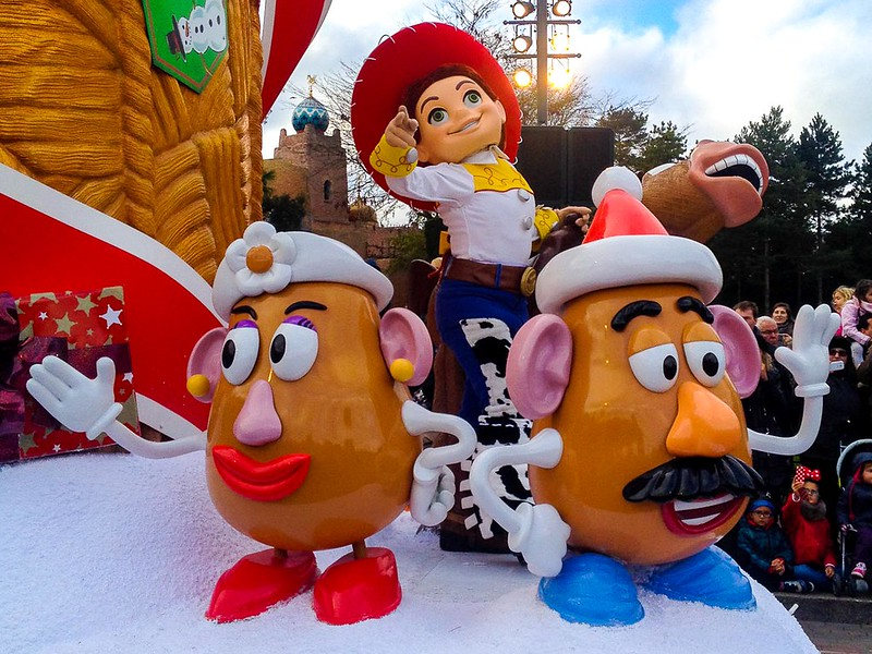 Jesse and the Potato Heads in the Christmas Parade
