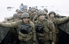 Tom Hanks and Tom Sizemore in Saving Private Ryan - 2000