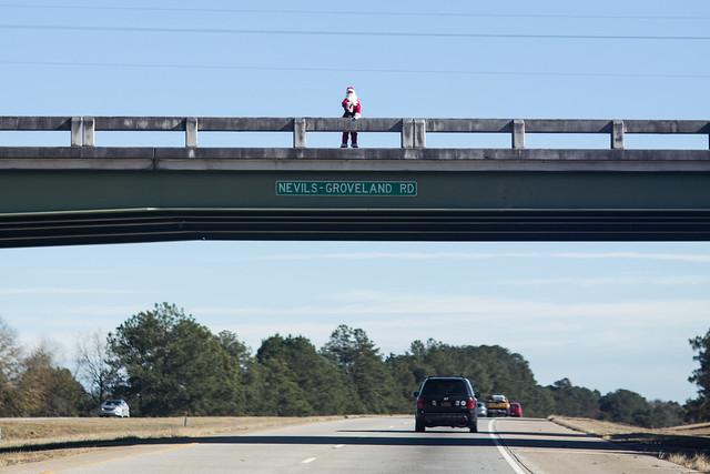 Overpass Santa